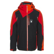 Spyder Vyper Mens Insulated Ski Jacket, Black-Red-Rage, medium