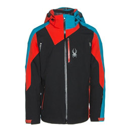 Spyder Vyper Mens Insulated Ski Jacket, Black-Rage-Electric Blue, 256