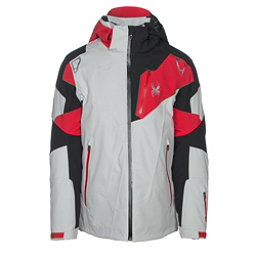 Spyder Leader Mens Insulated Ski Jacket, Cirrus-Black-Red, 256