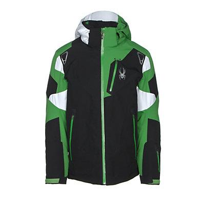 Spyder Leader Mens Insulated Ski Jacket, Black-Blade-White, viewer