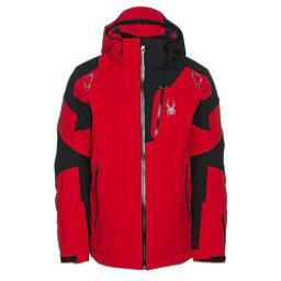 Spyder Leader Mens Insulated Ski Jacket, Red-Black-Red, 256
