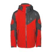 Spyder Leader Mens Insulated Ski Jacket, Rage-Polar Crosshatch-Polar, medium