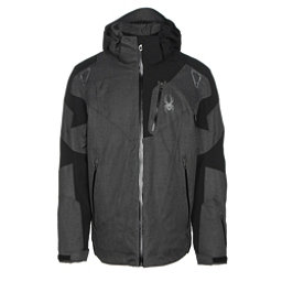 Spyder Leader Mens Insulated Ski Jacket, Polar Crosshatch-Black-Polar Crosshatch, 256