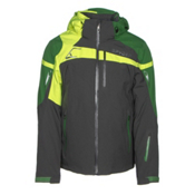 Spyder Titan Mens Insulated Ski Jacket, Polar-Blade-Bryte Yellow, medium