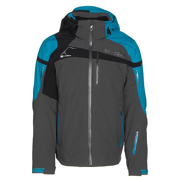 Spyder Titan Mens Insulated Ski Jacket, Polar-Electric Blue-Black, 600