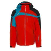 Spyder Titan Mens Insulated Ski Jacket, Rage-Black-Electric Blue, medium