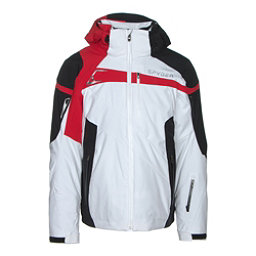 Spyder Titan Mens Insulated Ski Jacket, White-Black-Red, 256