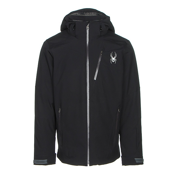 Spyder Chambers Mens Insulated Ski Jacket (Previous Season), Black-Black-Polar, 600