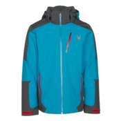 Spyder Chambers Mens Insulated Ski Jacket, Electric Blue-Polar-Red, medium