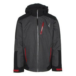 Spyder Chambers Mens Insulated Ski Jacket, Polar Crosshatch-Black-Red, 256