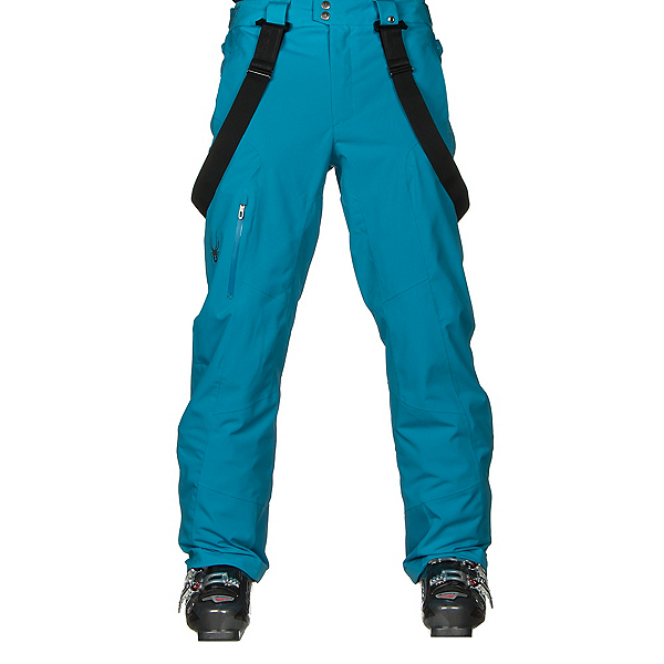 Spyder Dare Tailored Long Mens Ski Pants, Electric Blue, 600