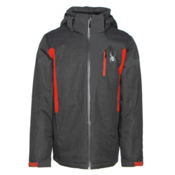 Spyder Cannon Mens Insulated Ski Jacket, Polar Crosshatch-Polar-Rage, medium