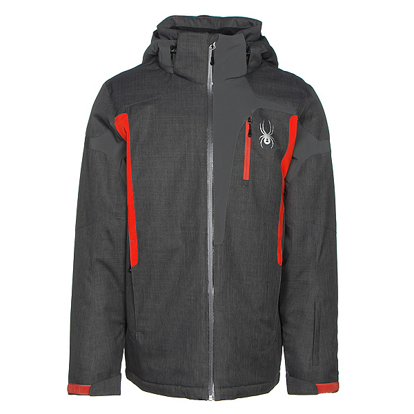 Spyder Cannon Mens Insulated Ski Jacket, Polar Crosshatch-Polar-Rage, 600
