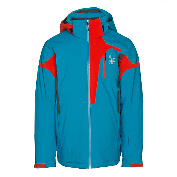 Spyder Cannon Mens Insulated Ski Jacket, Electric Blue-Rage-Polar, 600