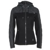Spyder Ardour Mid Wt Womens Sweater, Black-Black Melange Fabric, medium