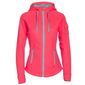 Spyder Ardent Full Zip Mid Wt Womens Sweater, Bryte Pink-Freeze-White, medium