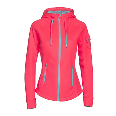 Spyder Ardent Full Zip Mid Wt Womens Sweater, Bryte Pink-Freeze-White, viewer