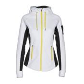 Spyder Ardent Full Zip Mid Wt Womens Sweater, White-Black-Acid, medium