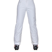 Spyder Winner Athletic Fit Womens Ski Pants, White, medium