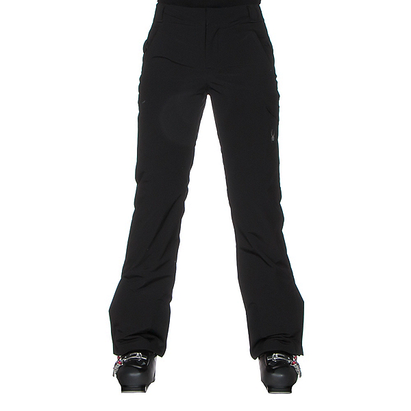 Spyder Me Tailored Fit Womens Ski Pants (Previous Season), Black, 600