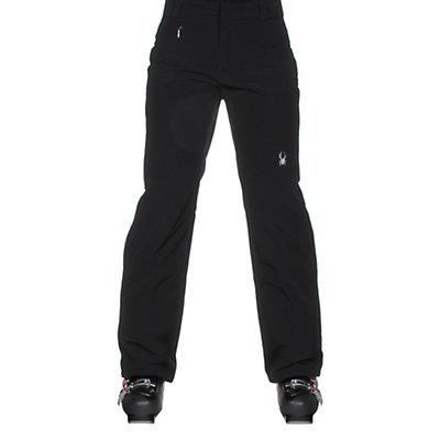 Spyder Winner Athletic Long Womens Ski Pants, Black, viewer