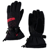 Spyder Overweb Gore-Tex Gloves, Black-Red, medium