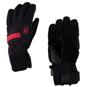 Spyder Underweb Gore-Tex Gloves, Black-Red, medium