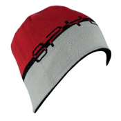 Spyder Reversible Word Hat, Black-Red-Cirrus, medium
