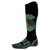 Spyder Explorer Ski Socks, Black-Blade-Bryte Yellow, medium