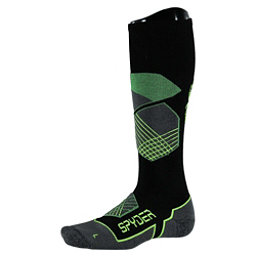 Spyder Explorer Ski Socks, Black-Blade-Bryte Yellow, 256