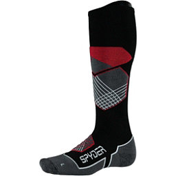 Spyder Explorer Ski Socks, Black-Red-White, 256