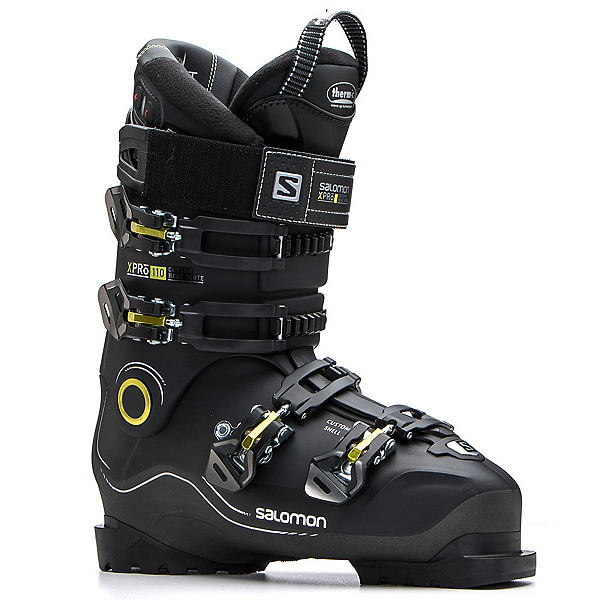 Salomon X-Pro Custom Heat Ski Boots 2018, Black-Metallic Black, 600