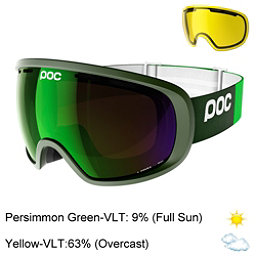 POC Fovea Goggles 2017, Methane Green-Persimmon Green + Bonus Lens, 256