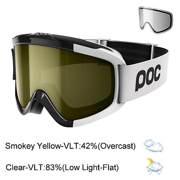 POC Iris Comp Goggles 2018, Uranium Black-Smokey Yellow Tr + Bonus Lens, 600