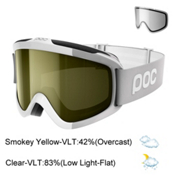 POC Iris Comp Goggles 2018, Hydrogen White-Smokey Yellow T + Bonus Lens, medium
