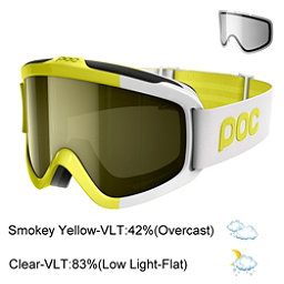 POC Iris Comp Goggles 2018, Hexane Yellow-Smokey Yellow Tr + Bonus Lens, 256