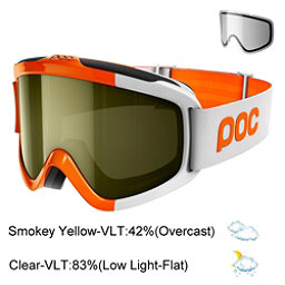 POC Iris Comp SML Goggles 2017, Zink Orange-Smokey Yellow Tran + Bonus Lens, 256
