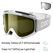 POC Iris Comp SML Goggles 2017, Hydrogen White-Smokey Yellow T + Bonus Lens, medium