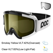 POC Iris Comp SML Goggles 2017, Uranium Black-Smokey Yellow Tr + Bonus Lens, medium
