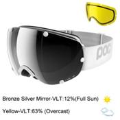 POC Lobes Goggles 2017, Hydrogen White-Bronze Silver M + Bonus Lens, medium