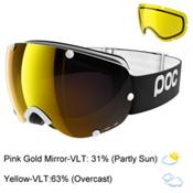 POC Lobes Goggles 2017, Uranium Black-Pink Gold Mirror + Bonus Lens, medium