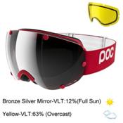 POC Lobes Goggles 2017, Glucose Red-Broze Silver Mirro + Bonus Lens, medium