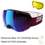 POC Lobes Goggles 2017, Lactose Red-Persimmon Blue Mir + Bonus Lens, medium