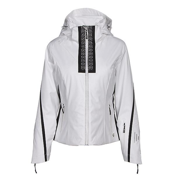 NILS Viv Womens Insulated Ski Jacket, White-Velocity Print-Black, 600