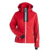 Nils Viv Womens Insulated Ski Jacket, Cherry-Velocity Print-Black, medium