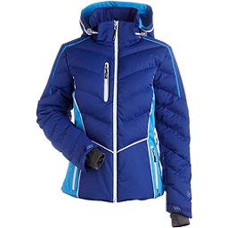 NILS Flo Womens Insulated Ski Jacket, Indigo-Glacier Blue-White, 256