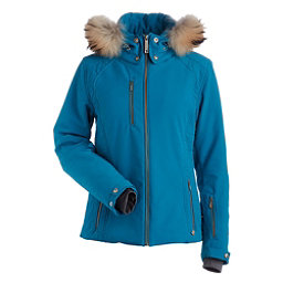 NILS Josephine Fur Womens Insulated Ski Jacket, Dark Teal, 256