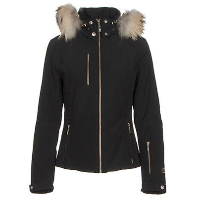NILS Josephine Fur Womens Insulated Ski Jacket, Black, viewer