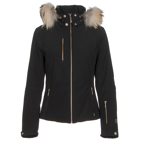 NILS Josephine Fur Womens Insulated Ski Jacket, Black, 600