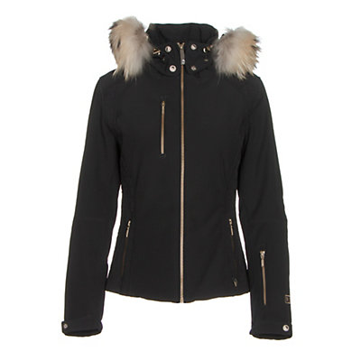 NILS Josephine Fur Womens Insulated Ski Jacket, Black, viewer